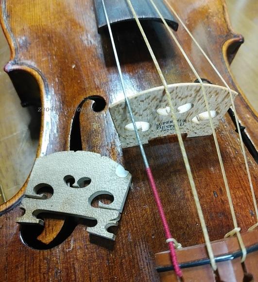 バイオリンの駒交換作業_a0304423_00230005.jpg