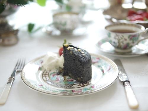 黒芝麻馬拉糕(黒胡麻のマーラーガオ)@ゆるマクロビ_a0169924_23302578.jpg