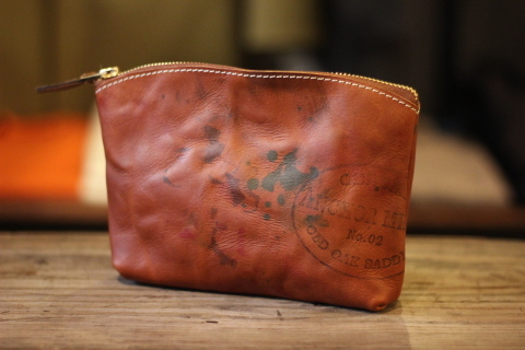 "VASCO 雰囲気ある ""PAINT LEATHER POUCH\"" ご紹介 _f0191324_07411908.jpg"