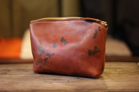 "VASCO 雰囲気ある ""PAINT LEATHER POUCH\"" ご紹介 _f0191324_07421837.jpg"