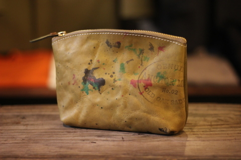 "VASCO 雰囲気ある ""PAINT LEATHER POUCH\"" ご紹介 _f0191324_07422988.jpg"