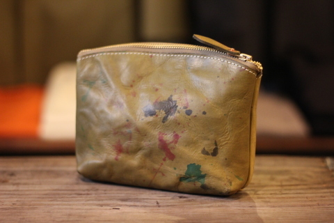 "VASCO 雰囲気ある ""PAINT LEATHER POUCH\"" ご紹介 _f0191324_07431767.jpg"