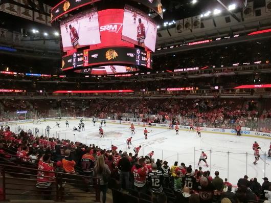 NHL観戦 ☆ CHICAGO Blackwawks 公開練習_e0303431_17513859.jpg
