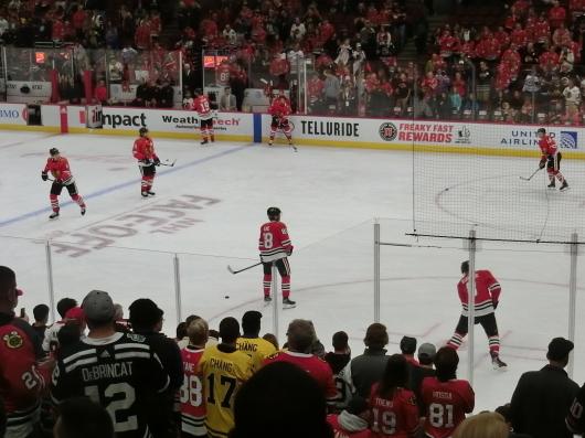 NHL観戦 ☆ CHICAGO Blackwawks 公開練習_e0303431_17531712.jpg