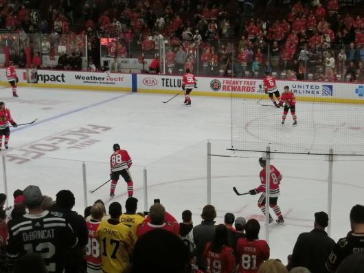 NHL観戦 ☆ CHICAGO Blackwawks 公開練習_e0303431_17532486.jpg