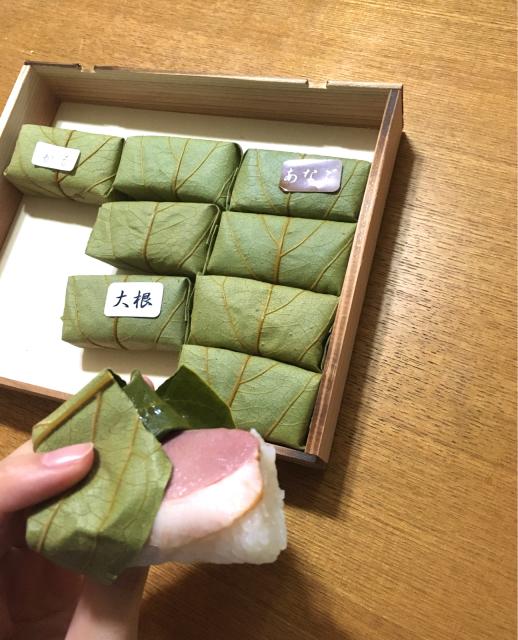 進化系柿の葉寿司_b0405445_08163887.jpg