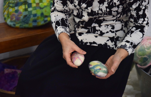MOSAIC FELT Kokuga Rumi exhibition @ 1日目_e0272050_17390208.jpg