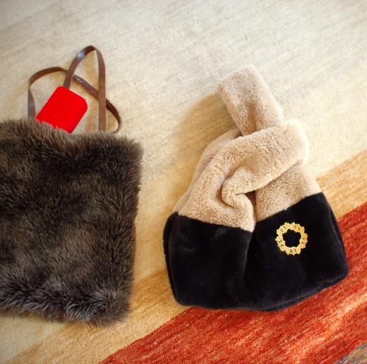 3coinsのしじみバッグと、雪のない畑。_c0110869_12340230.jpg