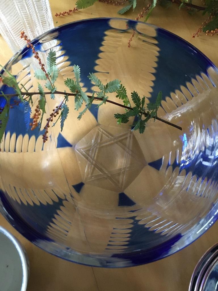 『レトロなガラスものと器たち』&『金柑のリース』_c0334574_19312054.jpeg