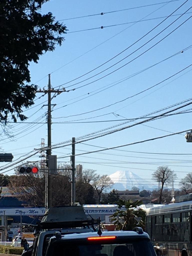 富士山くっきりだった昨日、焼肉さんあい志木幸町店_d0061678_19440284.jpg
