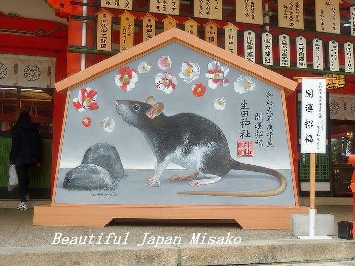 開運♡幸せねずみ~♡🐭・゚☆、・:`☆・・゚・゚☆。生田神社_c0067206_12405901.jpg