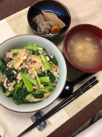小松菜のまかない丼_d0235108_18563137.jpg
