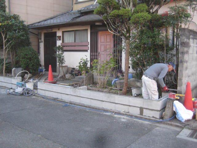 塀工事8 CB積み_e0360218_08533437.jpg