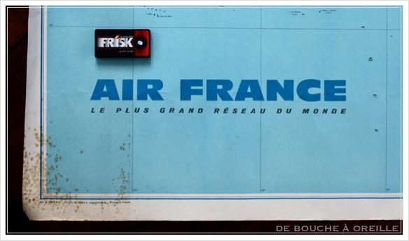 grande carte du monde AIR FRANCE エールフランスの大きな大きな世界地図 フランスアンティーク_d0184921_14495359.jpg
