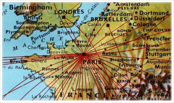 grande carte du monde AIR FRANCE エールフランスの大きな大きな世界地図 フランスアンティーク_d0184921_14525863.jpg