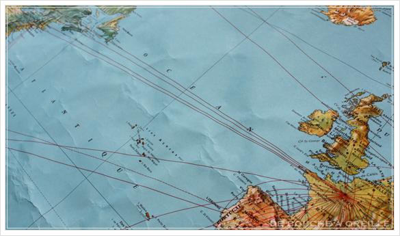 grande carte du monde AIR FRANCE エールフランスの大きな大きな世界地図 フランスアンティーク_d0184921_15050166.jpg