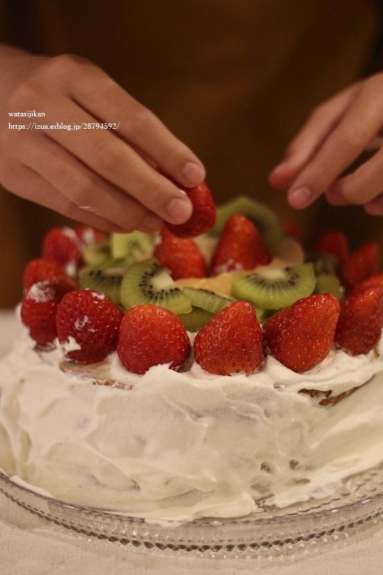 娘が作る、誕生日ケーキ!_e0214646_23235929.jpg