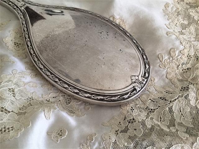 シルバープレート手鏡とヘアブラシのセット6_f0112550_09144017.jpg