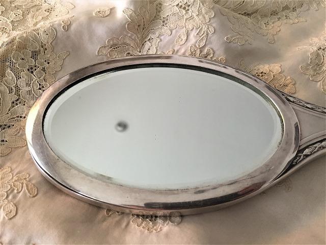 シルバープレート手鏡とヘアブラシのセット6_f0112550_09144159.jpg