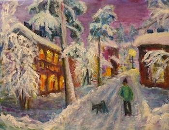 ヴィーナスフォートの噴水、それと、雪の町の絵。_d0193569_08304321.jpg