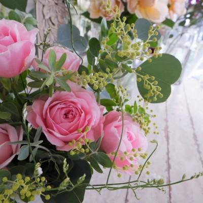 オークリーフ花の教室(大野さんと甲斐さんの作品)_f0049672_19194729.jpg