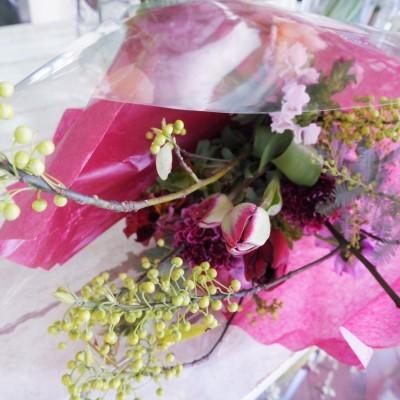 オークリーフ花の教室(大野さんと甲斐さんの作品)_f0049672_19195028.jpg