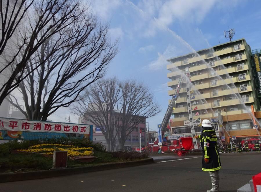 小平市消防団出初式_f0059673_17423861.jpg