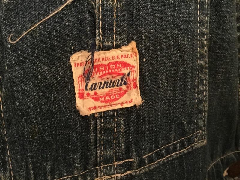 1940-50s Carhartt Denim Overall_c0226387_11522582.jpeg