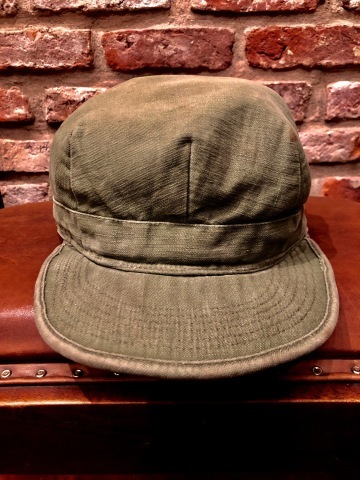 "1950s "" U.S ARMY \"" ALL cotton SATEEN - OG 107 - VINTAGE UTILITY CAP ._d0172088_19020052.jpg"