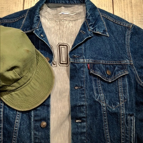 "1950s "" U.S ARMY \"" ALL cotton SATEEN - OG 107 - VINTAGE UTILITY CAP ._d0172088_21235785.jpg"
