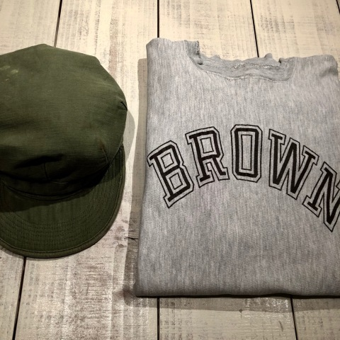 "1950s "" U.S ARMY \"" ALL cotton SATEEN - OG 107 - VINTAGE UTILITY CAP ._d0172088_21252646.jpg"