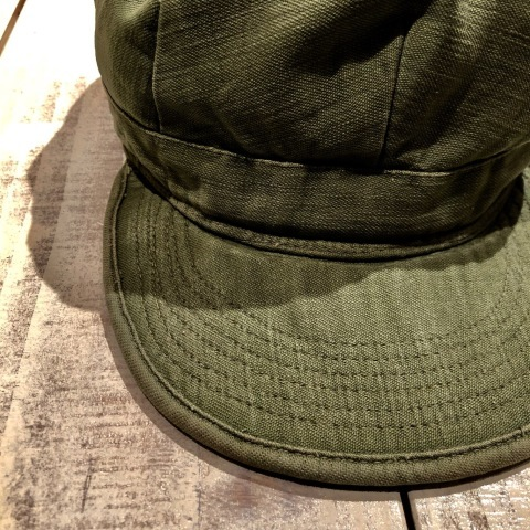 "1950s "" U.S ARMY \"" ALL cotton SATEEN - OG 107 - VINTAGE UTILITY CAP ._d0172088_21261342.jpg"