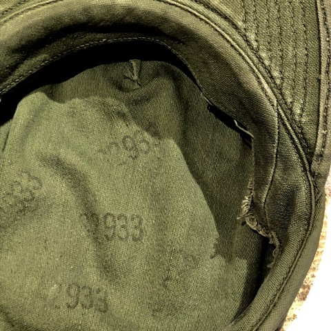 "1950s "" U.S ARMY \"" ALL cotton SATEEN - OG 107 - VINTAGE UTILITY CAP ._d0172088_21264088.jpg"