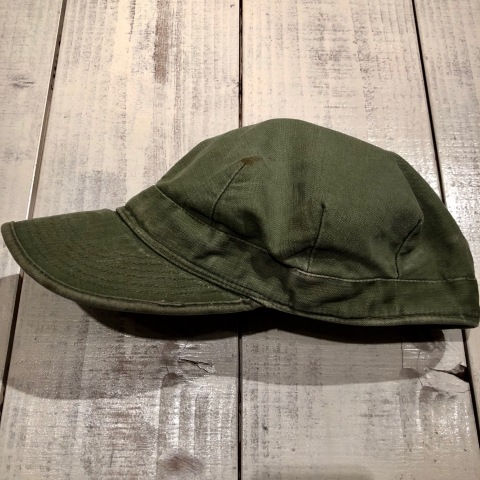"1950s "" U.S ARMY \"" ALL cotton SATEEN - OG 107 - VINTAGE UTILITY CAP ._d0172088_21271396.jpg"