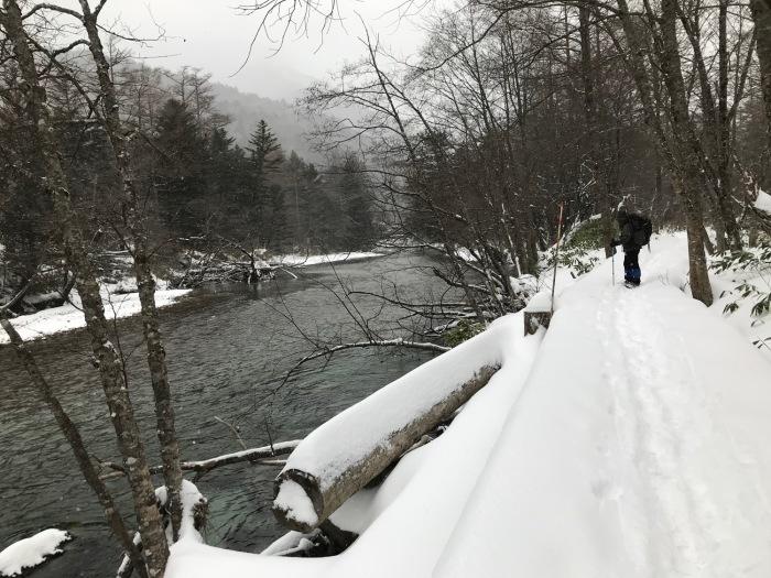 雪の上高地_f0232994_15230580.jpg