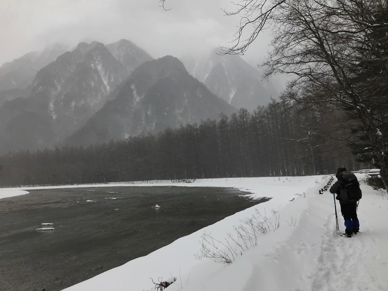 雪の上高地_f0232994_15245201.jpg