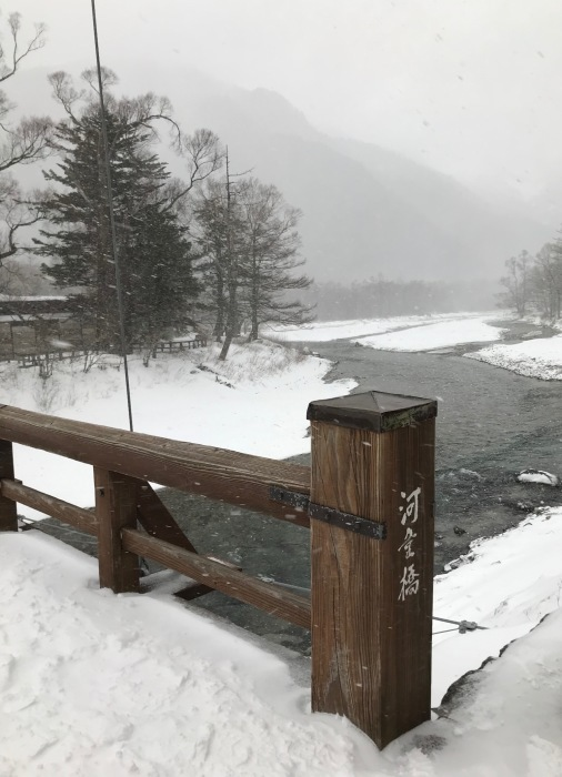 雪の上高地_f0232994_15245985.jpg