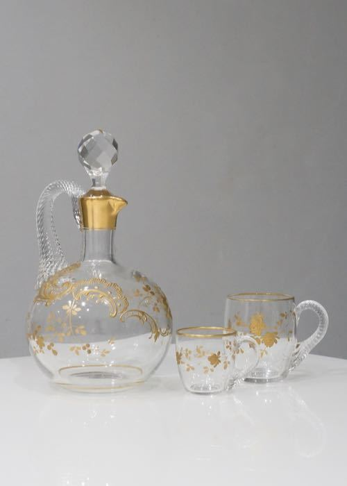 Baccarat Gold paint glass with hundle_c0108595_23462304.jpeg