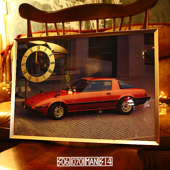 1980s Vintage RX-7 パネル時計 SA22C後期型 マツダロータリー_e0243096_20500701.jpg