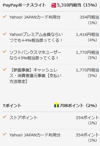 36時間限定Yahooショッピングで+5%還元 AirPods ProMWP22J/A在庫も22%還元に_d0262326_10045764.jpg