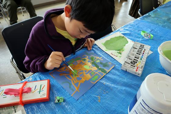 やと子ども美術教室 ~ 描き初め ~_e0222340_14382167.jpg