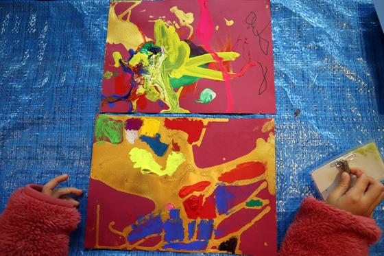 やと子ども美術教室 ~ 描き初め ~_e0222340_14474383.jpg