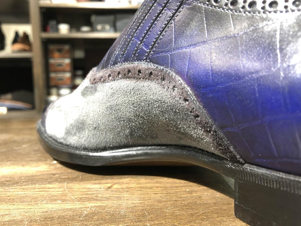 ブログ『久々に私靴作りました!~クロコ、ではない』_b0365069_18454819.jpg