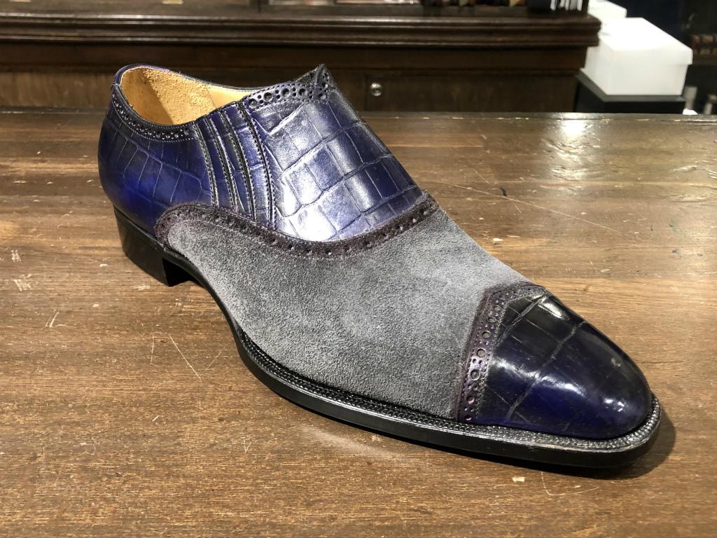 ブログ『久々に私靴作りました!~クロコ、ではない』_b0365069_18473982.jpg