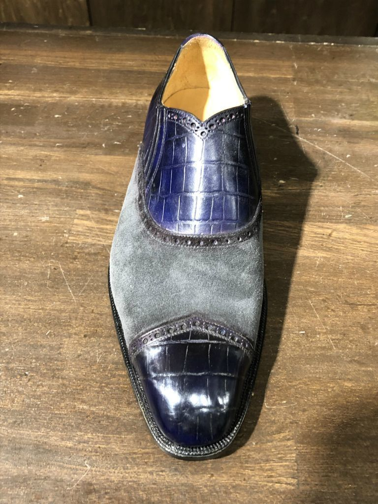 ブログ『久々に私靴作りました!~クロコ、ではない』_b0365069_18475919.jpg
