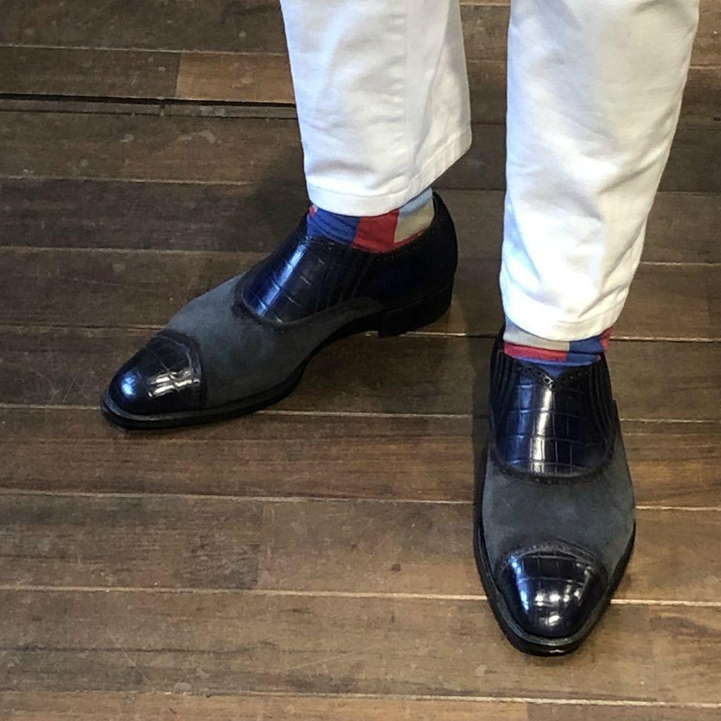 ブログ『久々に私靴作りました!~クロコ、ではない』_b0365069_18492667.jpg