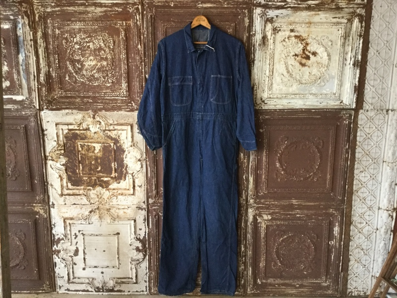 1940s Denim All In One CoverAll_c0226387_12383441.jpeg