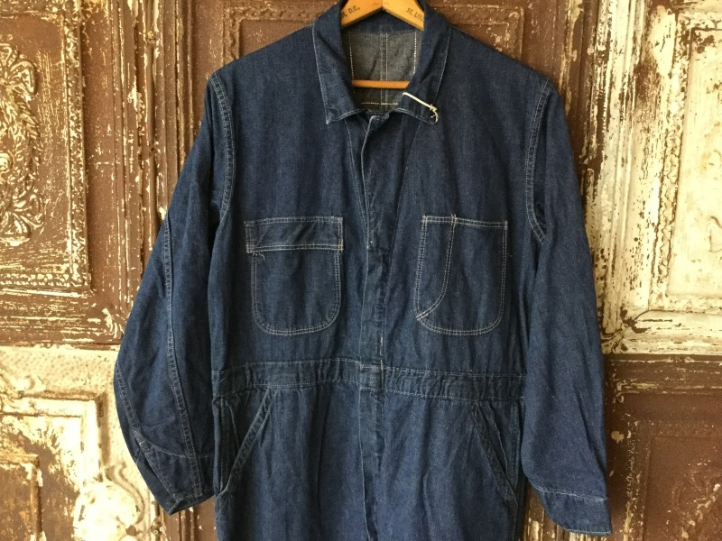 1940s Denim All In One CoverAll_c0226387_12384869.jpeg