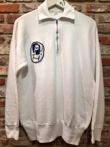 "1950s "" PENNEY\'S \"" ALL cotton VINTAGE - ZIG ZAG MAN - HALF/ZIP SWEAT SHIRTS ._d0172088_16181073.jpg"