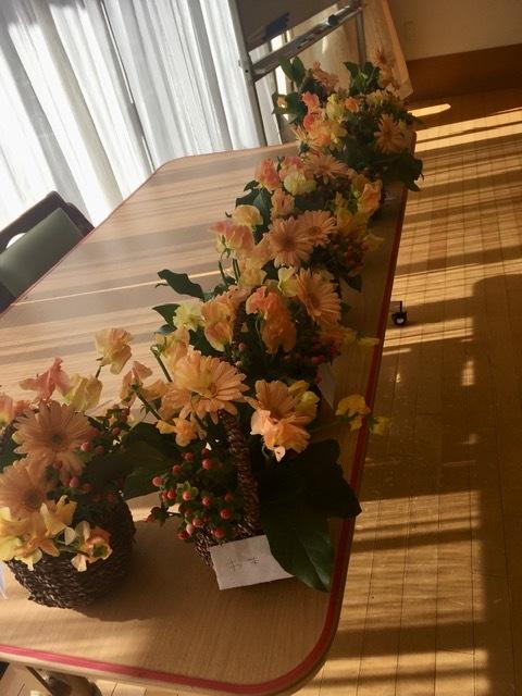 新春アレンジメント@ケアハウスさま_d0144095_15373395.jpg